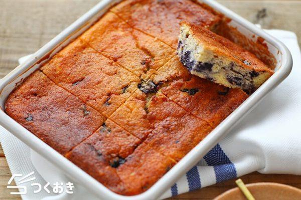 簡単にできるヨーグルトブルーベリーケーキ