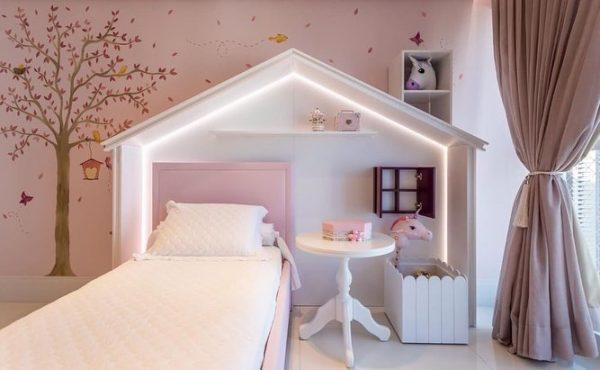森の小さなおうちを思わせる可愛い子ども部屋