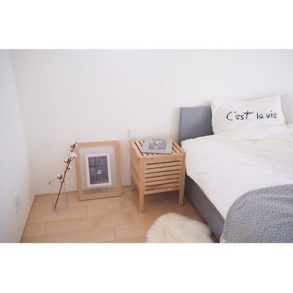 シンプルさが心地よいベッドルームインテリア