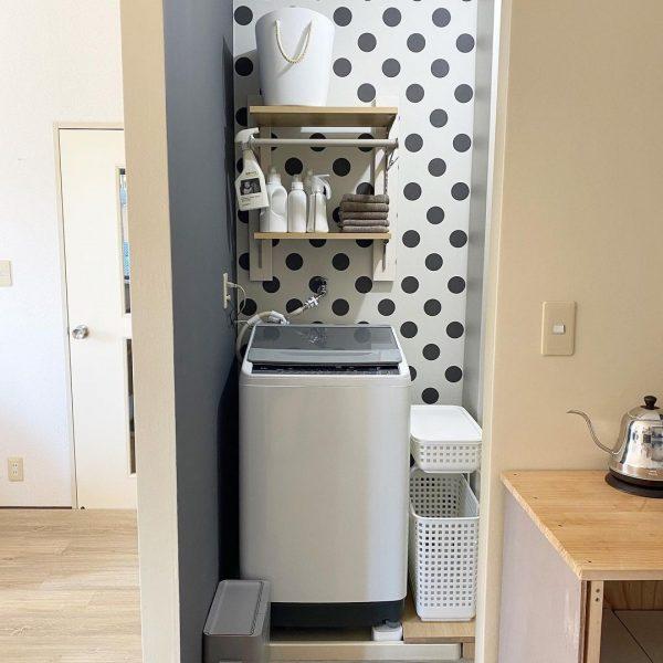 洗濯機の上の棚DIYアイデア5