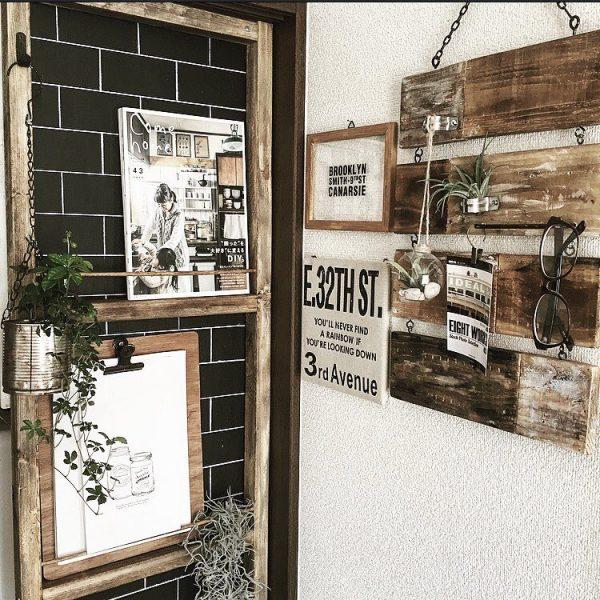 食器棚に造りつけたスリムな本棚