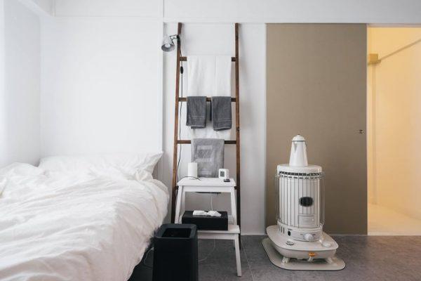 白をベースにした寝室実例