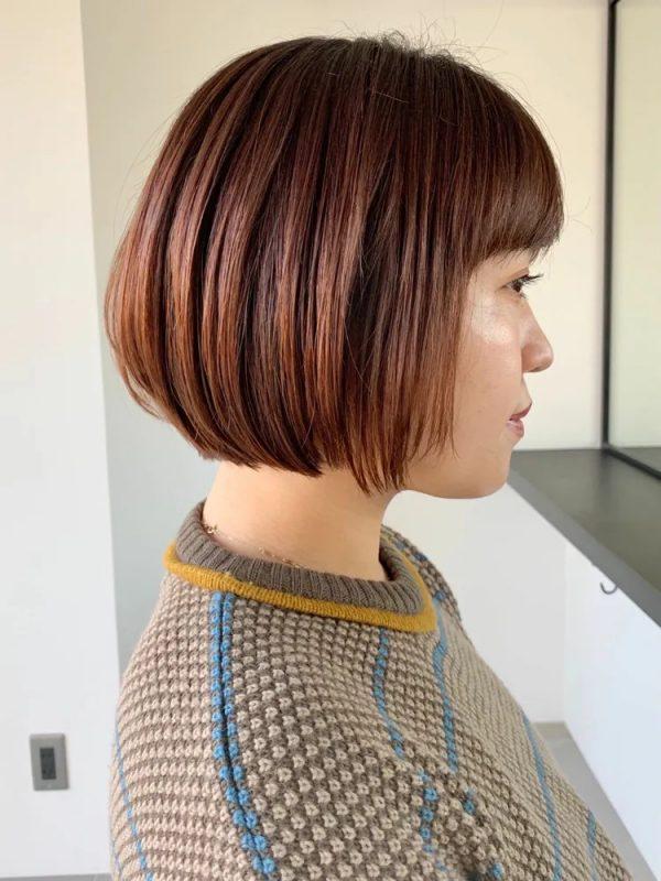 イエベ春と好相性なツヤのある暗めの髪色