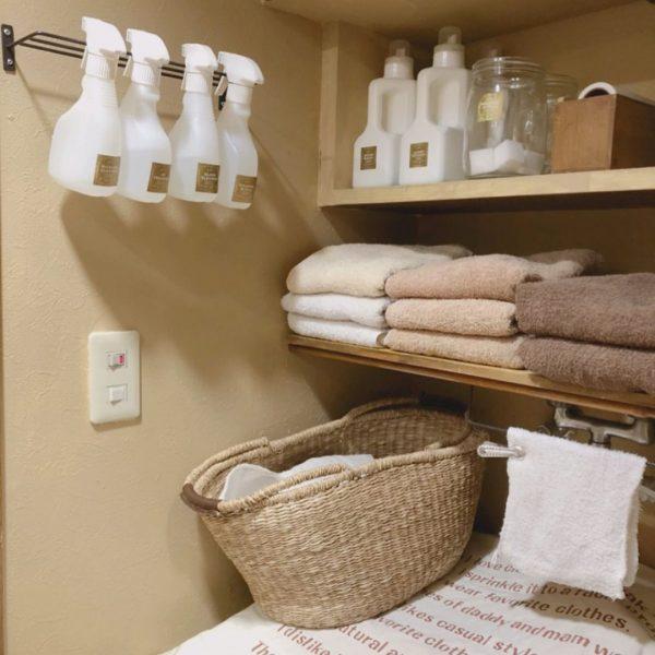 洗濯機の上の棚DIYアイデア9