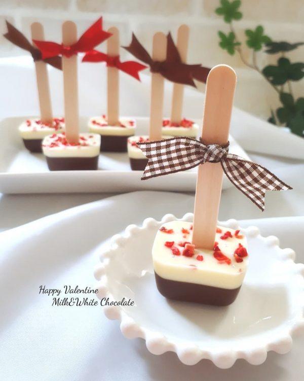 簡単手作りレシピで人気の棒チョコ