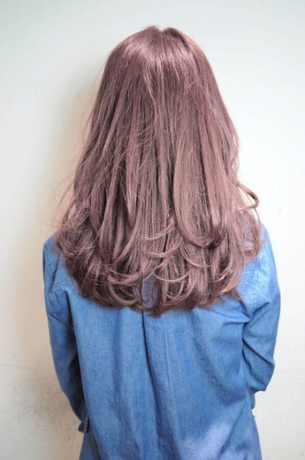 透け感あるピンクグラデーションカラー