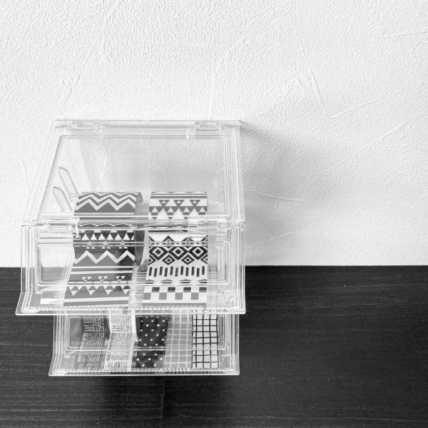 スッキリ収納できるマスキングテープケース