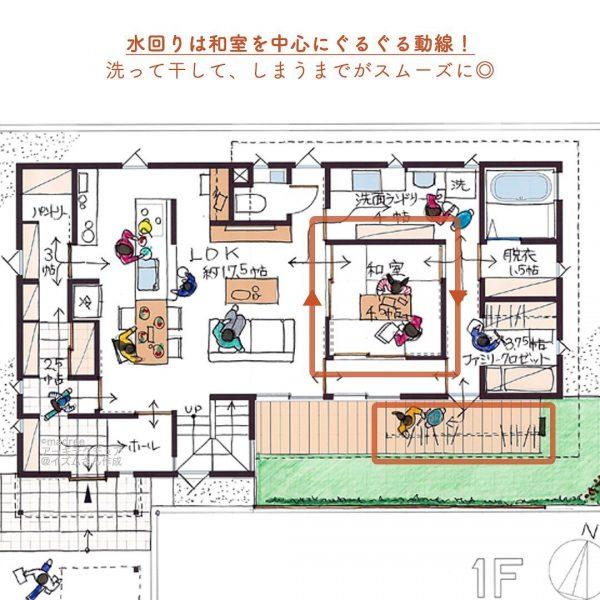 家事動線と収納が効率よし◎時短家事で家族との時間が増える家3