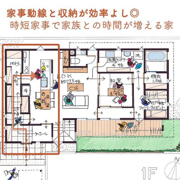 家事動線と収納が効率よし◎時短家事で家族との時間が増える家