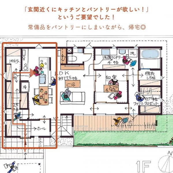 家事動線と収納が効率よし◎時短家事で家族との時間が増える家2