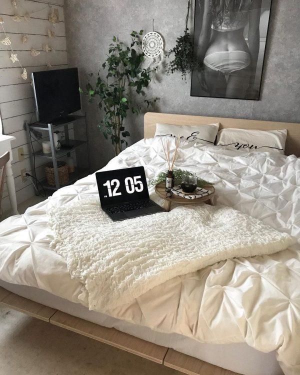 和室をリノベーションした寝室