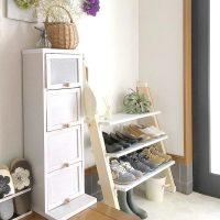 オープンだから使いやすい!多くてもすっきりまとまる靴収納アイデア