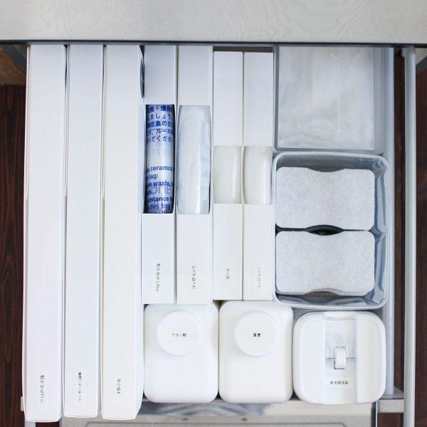 キッチン小物はアイデア収納で容量アップ