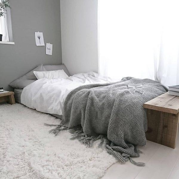 海外のような寝室
