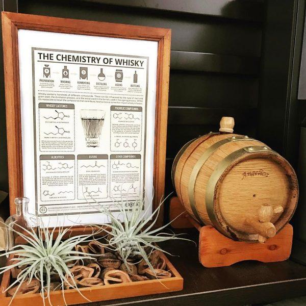 ウイスキーを樽ごとディスプレイした実例