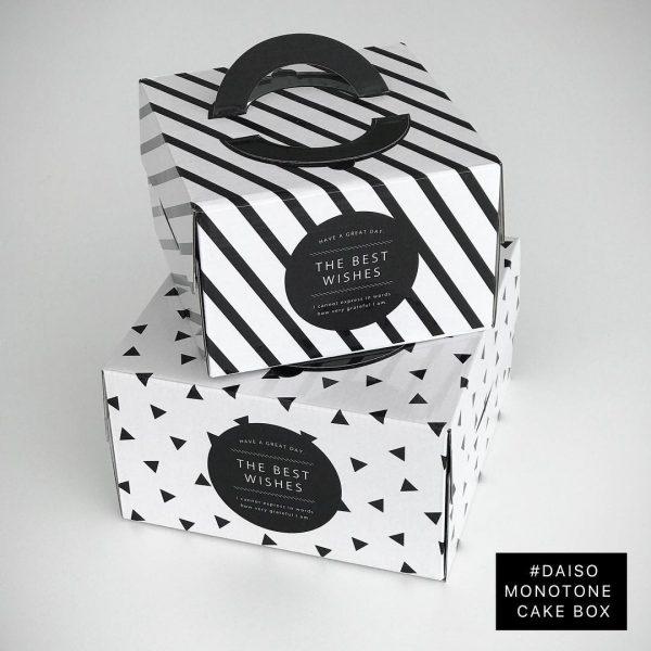 ダイソーのバレンタインケーキボックス
