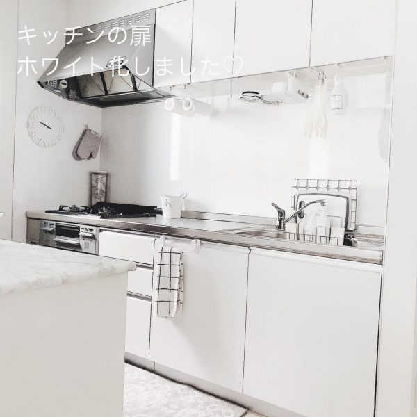 真っ白キッチンインテリア2