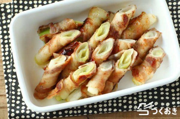 定番の具材で簡単レシピ!豚バラネギ巻き