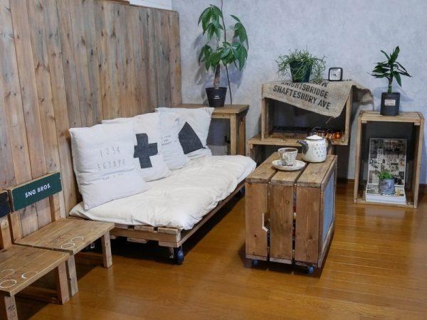 キャベツボックスの簡単DIYローテーブル