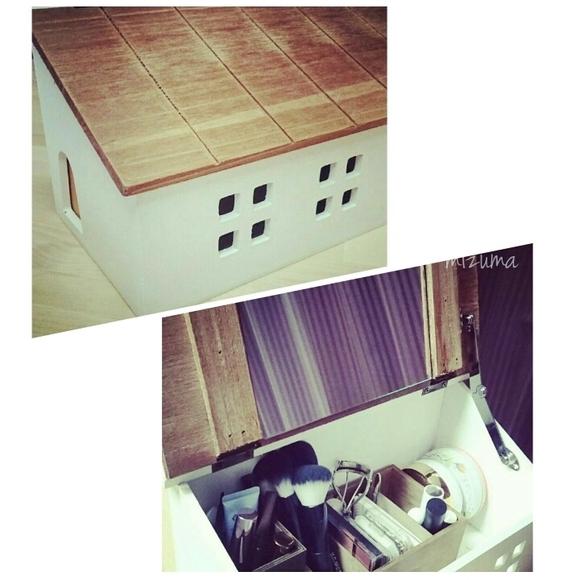 ケーブルボックスで作る卓上ドレッサー