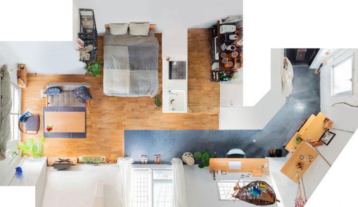 二人暮らしのベッドスペース