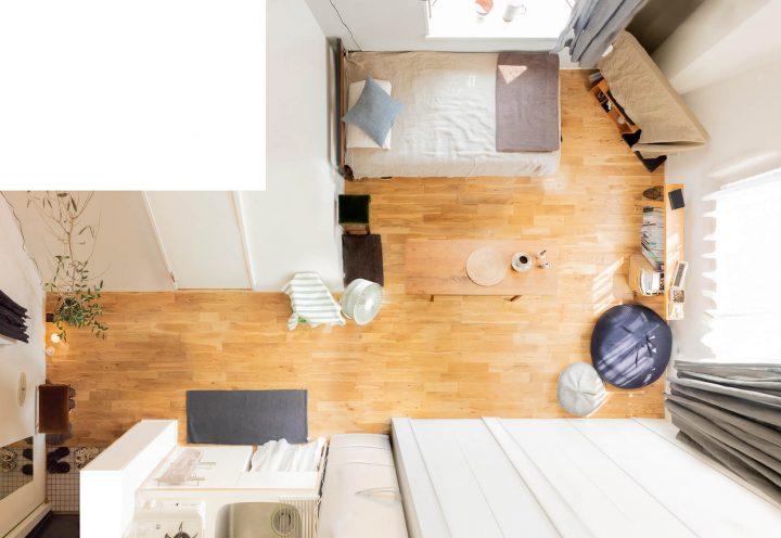 男性ひとり暮らしの部屋