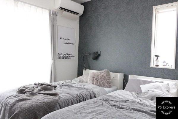 重厚感のある寝室