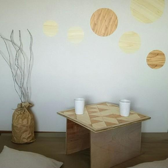 木の紙のDIYでおしゃれなミニテーブル