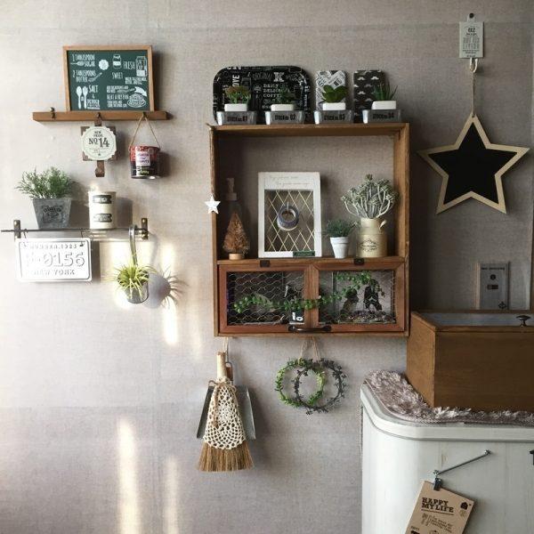 室内にDIYでおしゃれなガーデニング用飾り棚