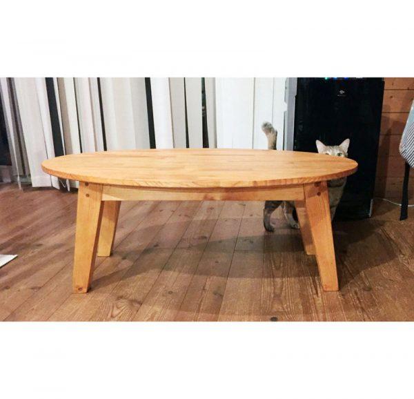 DIYでも作れるおしゃれな楕円ローテーブル