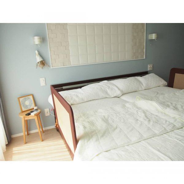 ベッドガードを活用した寝室