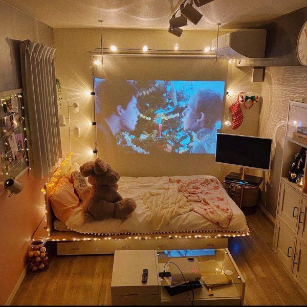 キラキラライトが可愛いオルチャン部屋