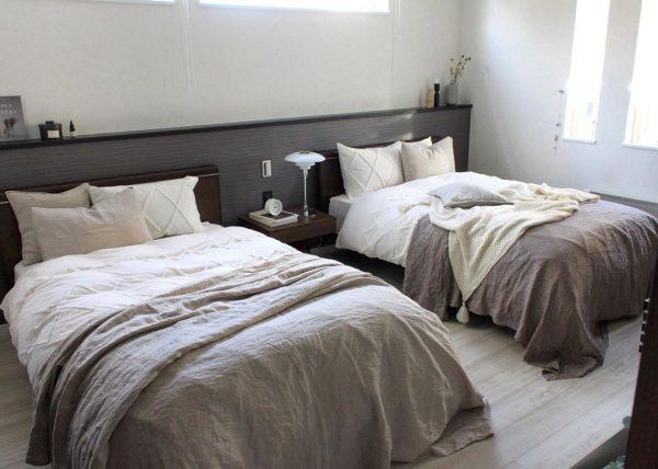 ナチュラルカラーが心落ち着くベッドルーム