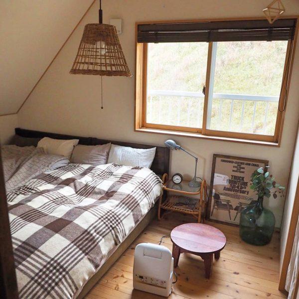 6畳以上に◎シングル2台をレイアウトした寝室