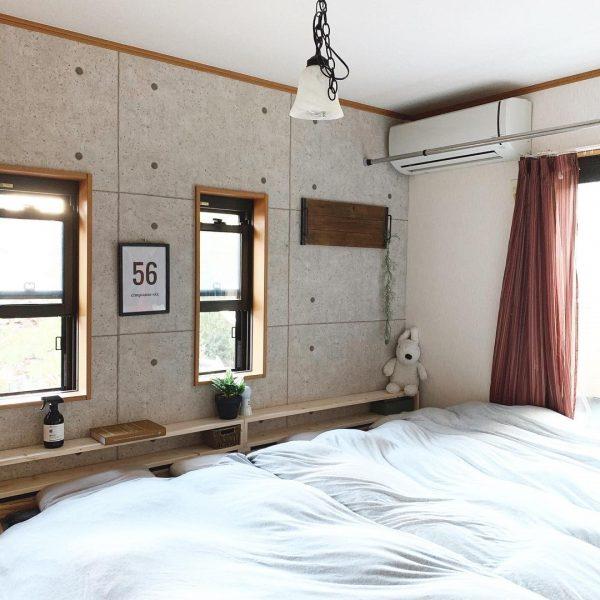 DIYで使い勝手を良くした寝室
