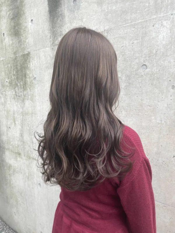 イエベ秋に似合う暗めの髪色 ロング4