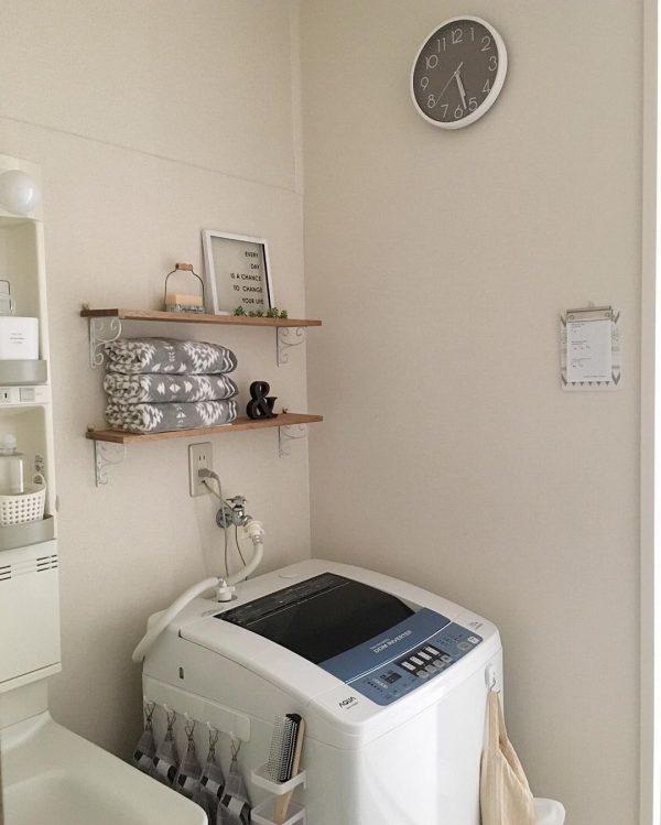 洗濯機の上の棚DIYアイデア4