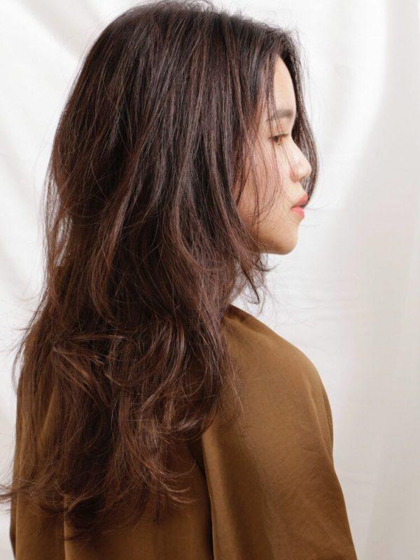 前髪なしのパーマ×ロングヘア9