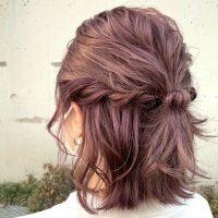 【ストレートヘア】卒園式のママのおすすめヘアアレンジ。お祝いの場に最適な髪型