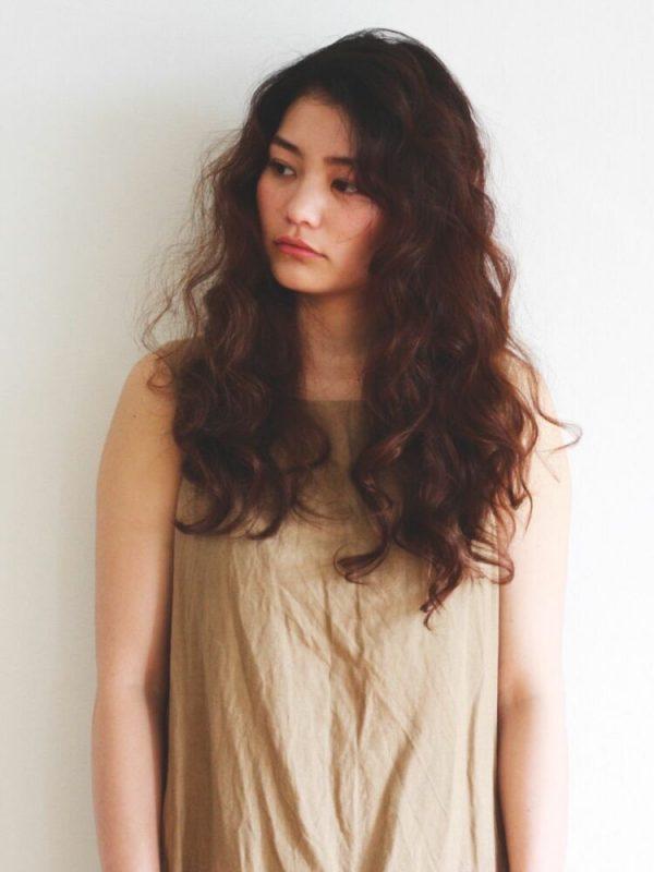 前髪なしのパーマ×ロングヘア6