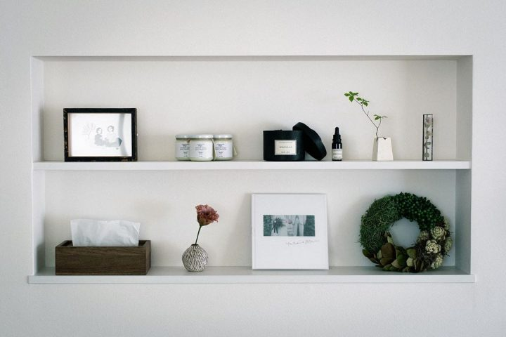LDKの白い棚