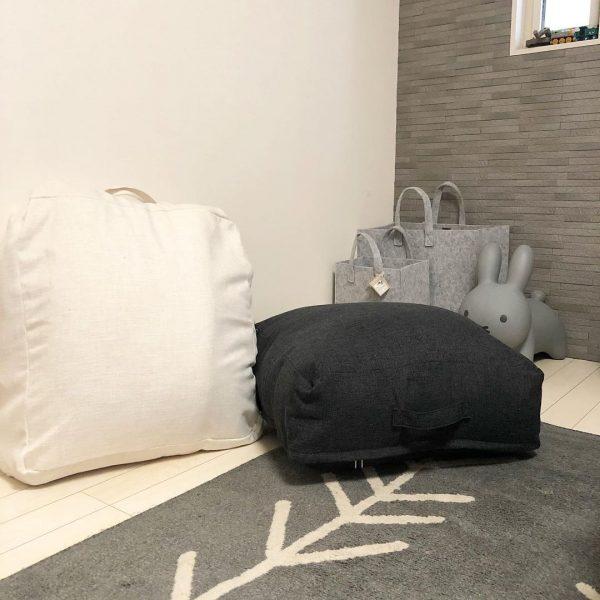 布団をクッションに見せる!隠す収納方法