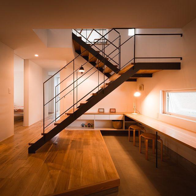 スケルトン階段がおしゃれな和モダン玄関