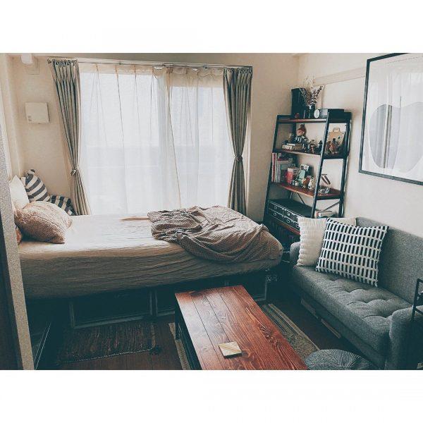 ヴィンテージインテリアな一人暮らしの部屋