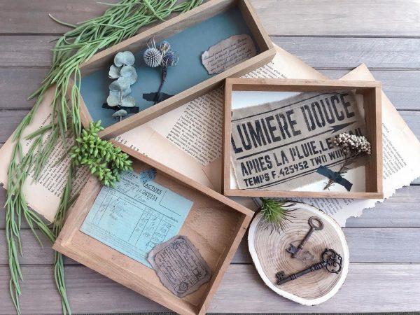 セリアの木箱で雑貨を作るアイデア