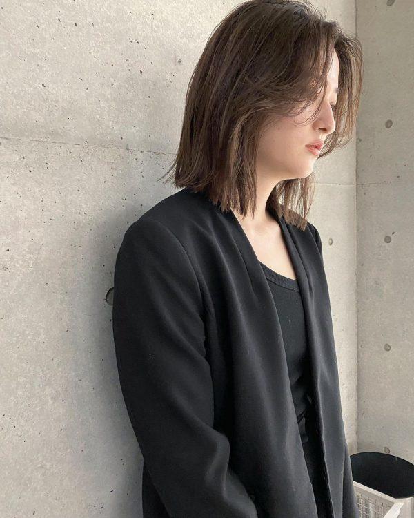 韓国風にも◎タッセルカットの前髪なしアレンジ