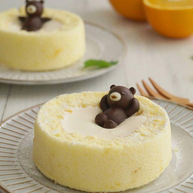 子供のお祝いに!温泉クマさんロールケーキ