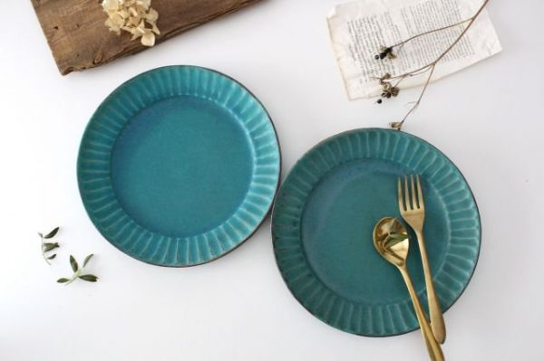 わかさま陶芸のオードブル皿シャビーターコイズ