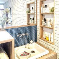 洗面所をリメイクシートで簡単DIY。おしゃれな壁にすることで叶う理想の空間作り