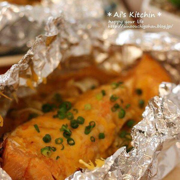 簡単人気♪和食に鮭のホイル焼き